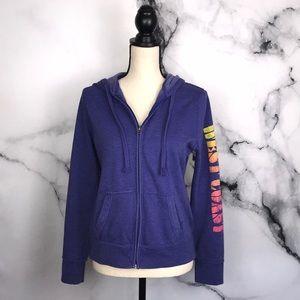 🦋MOSSIMO🦋 purple west coast zip up hoodie